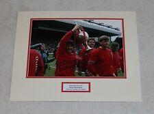 PETER BEARDSLEY Liverpool Genuine HAND SIGNED Autograph Photo Mount + COA