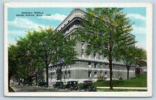 Postcard MI Grand Rapids Michigan Masonic Temple c1920s AF8