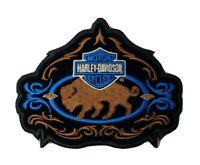 Vintage HARLEY DAVIDSON Tribal Buffalo B&S  Patch  5 Inch Patch
