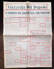 WW2-SCIOGLIMENTO DELLA CAMERA DEI FASCI E DELLE CORPORAZIONI-30-07-1943 N.1870