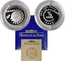 2002 France 1/4 Euro Silver Euro Of Children Proof KM #1293a OGP W/COA