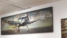 AMERICAN IRON PLANE 3D Hand Crafted Metal Wall Art / Sculpture Stunning Decorate