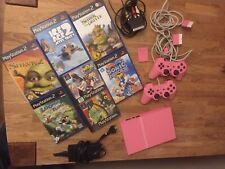 Playstation 2 PS2 Pink mit Spielen
