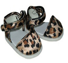 Leopard Print Ankle Strap Shoes Fits 18 inch American Girl Dolls