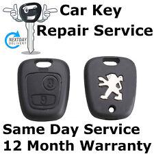 Peugeot 106 206 306 remote 2 button key fob case repair refurbishment service