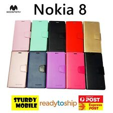 Mercury Goospery Sonata Wallet Cover Case for Nokia 8 Folio Flip Wallet ID Cards