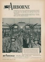 1949 Fairchild Airplane Ad C-82 Packet Air Force Troop Cargo Transport Plane