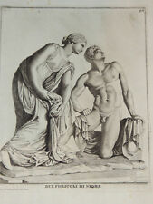 GRAVURE AU BURIN XVIIIème - DUO FIGLIUOLI DI NIOBE - GIO D. CAMPIGLIA  ITALIE