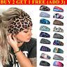 Women Girls Wide Elastic Headband Turban Hair Band Sports Running Yoga Head Wrap