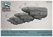 Attack Squadron Models 1/48 LOCKHEED C-130J HERCULES ENGINE NACELLES Resin Set