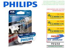 1 BOMBILLA PHILIPS RACING VISION H4 +150% LUZ LAMPARA P43t-38 COCHE MOTO XTREME