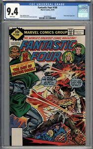 Fantastic Four #199 CGC 9.4 NM RARE Whitman Variant WHITE PAGES