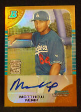 Matt Kemp 2005 Bowman Chrome AUTO GOLD REFRACTOR ROOKIE RC PADRES DODGERS /50