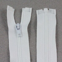 "WHITE 12'' - 28"" INCH OPEN END No.3 NYLON ZIPS *9 SIZES* SEWING ZIPPER NZ3101"