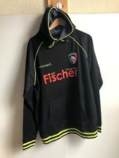 Kooga Leicester Tigers Rugby Men's Club Training Hoodie - Large - Black - New