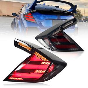 LED Tail Lights For Honda Civic Hatchback 2016-2021 Type R Start-Up Animation