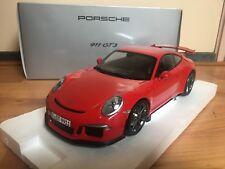 1:18 Minichamps Porsche 911 991 GT3 red 2013 Dealer Edition NEW