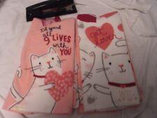 Cat Dish Towels 4 TOWELS very cute