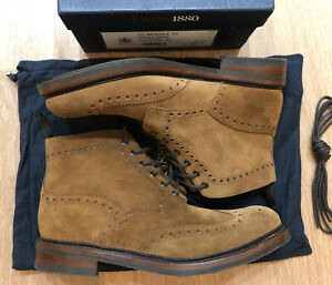 Loake 1880 Brown/Tobacco Suede Bedale Boots Size 10 Made In England
