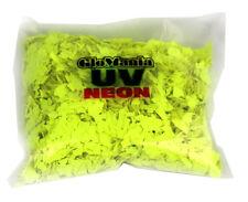 Garage Floor Fluorescent UV Reactive Neon Paint Flakes- 4oz bags