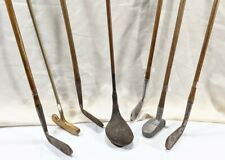 7 - Antique / Vintage Hickory Shaft Golf Clubs Putters Irons & Wood Driver