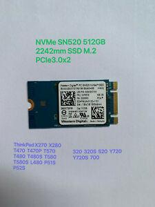 WD PC SN520 NVMe SSD SDAPMUW-512G-1101 128GB 256GB 512GB M.2 2242 PCIe NVMe SSD