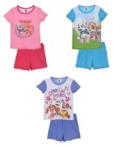 Schlafanzug Paw Patrol Pyjama Mädchen Kinder  Disney 100% Baumwolle