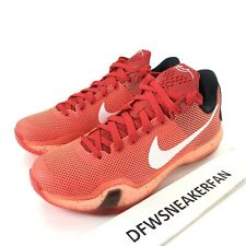 Nike Kobe X  Men's Size 9.5 Majors Bright Crimson Red/Black 705317-616