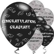 "Congratulations Graduate Balloons - 11"" Latex - Pack of 6"