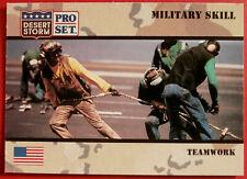 DESERT STORM - Card #175 - Military Skill: TEAMWORK - Pro-Set 1991