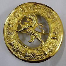 Para Hombre Escocés León Rampante volar a cuadros broche de oro plateado/León Rampante Pin Broche