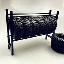 Metal Spare Tires Shelf / Tire Tyre Rack for Fit RC Cars 1/10 Scale SCX10 D90