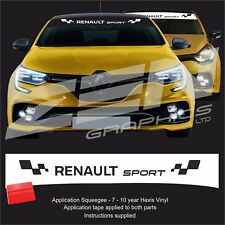 Renault clio megane r.s. rs cup trophy 200 280 Sun strip visor decals stickers