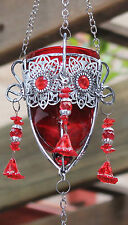 * REDUCED *   Turkish style  Hanging Tea light Candle Holder  ( RED )  BRAND NEW
