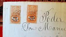 PERU revenue 1 Sol Ancashs 1871, 1 side imperforate error legal document; scarce