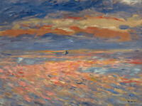Sunset Pierre-Auguste Renoir Landscape Print on Canvas Giclee Repro Small 8x10