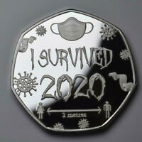I SURVIVED 2020 MEDAL AND COMMEMORATIVE SET. 50P COIN COLLECTORS. MEMENTO. GIFT.