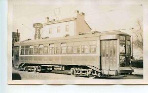 D398 RP 1940s TRAIN TROLLEY #4678 RT 70 ' PASCHALL ' @ BLACK HORSE TAVERN