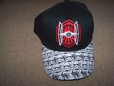 NWT Star Wars Hat Cap Boy's OSFA ~ TIE FIGHTER ~ STORM TROOPER ~ Snap Back ~