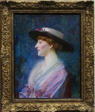 James Walter West Retrato Mujer Victoriana británico Pintura al óleo impresionista Ar
