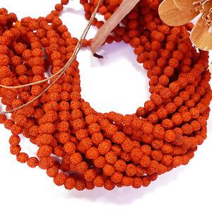Rudraksha, hennarot Mala Perlen 8 mm ca. 82 cm/ 109 Stück Strang 1x #03.00034