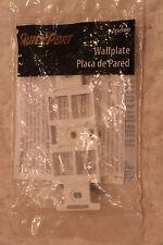 LEVITON 4-PORT KEYSTONE DUPLEX WHITE STANDARD OUTLET 631-40898-WBR
