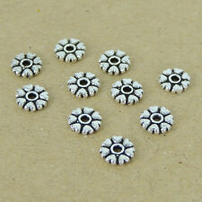 10 Pcs 925 Sterling Silver Spacers Vintage Heart DIY Jewelry Making WSP401X10