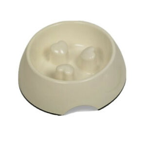 Nobby Anti-Gulping Melamine Dog Food & Water Bowl Cream