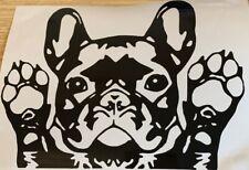 1x French Bulldog Vinyl Sticker Decal Graphic Car Van Window Black