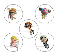 5pcs/Set One Piece Luffy Chopper Water Mini Figures Edge of The Cup