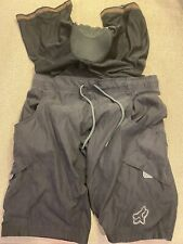 Mens Fox Mountain Bike Shorts 2 In 1 Padded Cycling Shorts Size Large L