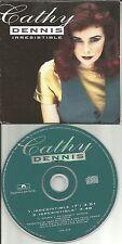CATHY DENNIS Irresistible w/ RARE 7 INCH VERSION PROMO Radio DJ CD Single 1992