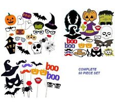 60 Pieces Halloween Party Diy Fun Photo Booth Props With Sticks