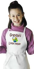 Kids Child Apron Grandpa's Little Helper Children's Cooking Aprons by CoolAprons